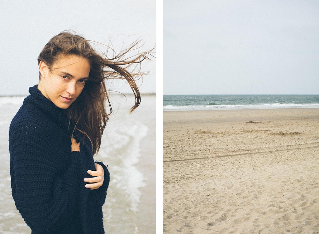 Portrait junge Frau am Meer