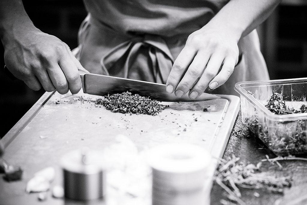 Kräuter Küchenmesser