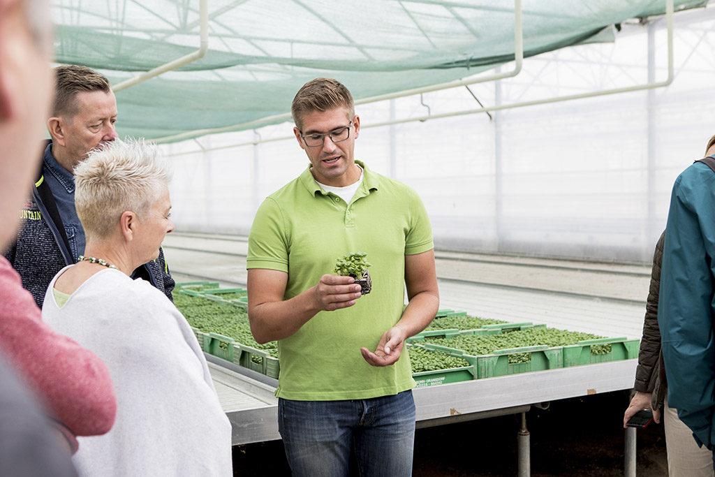 Führung durch den Kräuteranbaubetrieb