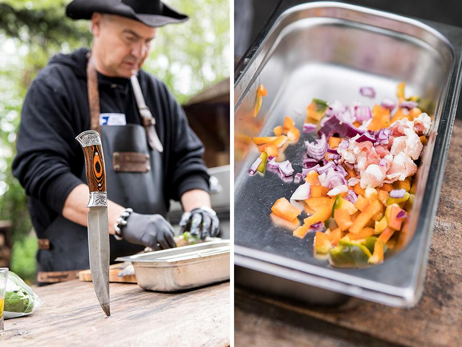 geschnittenes Gemüse, Rezepte mit Fisch