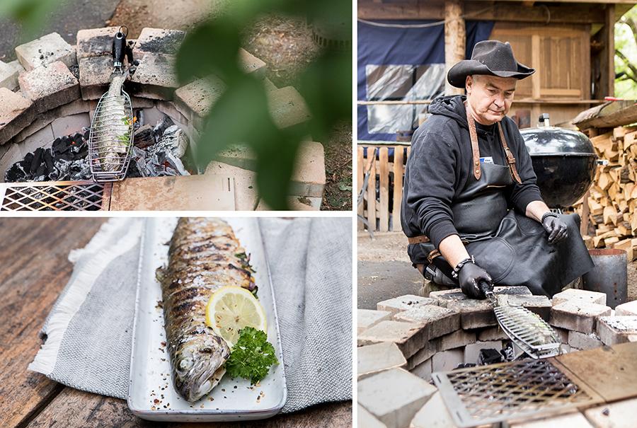 Ralf Mechlinski grillt Fisch